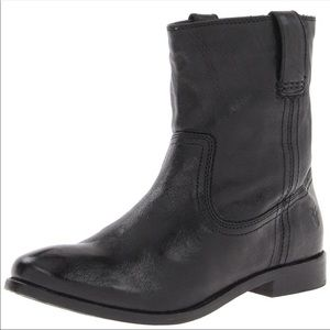Frye Anna Shortie Boots Black Pull On 6.5